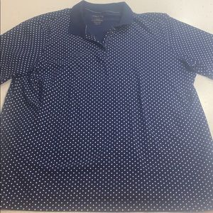 White Stag micro dot short sleeve collared top